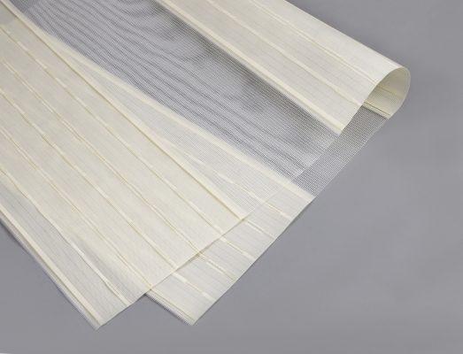 Rèm combi tông màu trắng đục