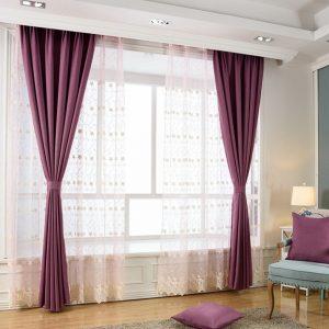 Rèm vải chắn sáng màu tím