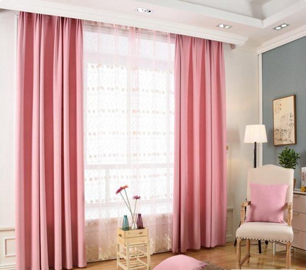 Rèm màu hồng đẹp